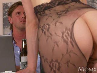 Mutter überraschung büro sex mit ehefrau im crotchless.