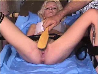 Pussy clamped blonde Video