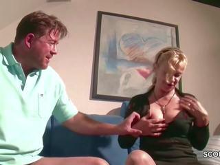 German Huge Tit MILF Seduce to Fuck by Step-son: HD Porn 3f