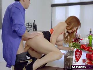 bigtits, fake tits, red head