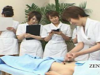 Subtitled wanita berbusana pria telanjang jepang memainkan kontol dengan tangan spa kelompok demonstration