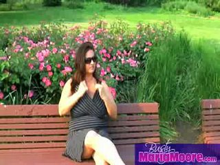 Maria Moore - solo on park bench