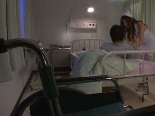 Erotic Nurse Yuna Shiina Has A Cumload While She Pees