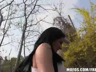 Slutty local Czech girl gets picked up at the bus stop Video