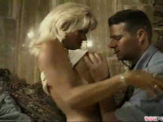Mature wife pampers her young husband