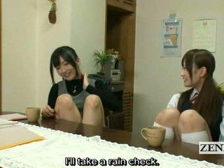 Subtitled lesbisch japans leraar bath met schoolmeisje