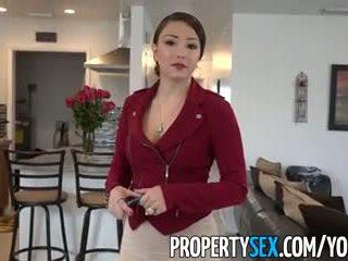 Propertysex - groot bips latina echt estate agent bedrogen in amateur seks video-
