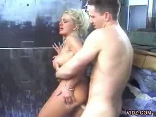 Blonde slut wants twat filled with spe...