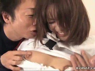 Japanska coed körd vid hem uncensored