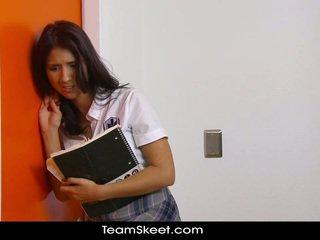 brunette, student, booty