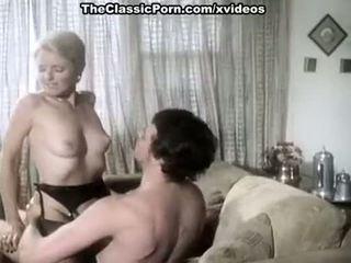Juliet anderson, ron hudd į karštas 80's porno video su double penetration