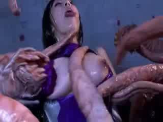 怪物 tentacles jizzing 大 布布 東方的 色情 attacker 所有 該 體