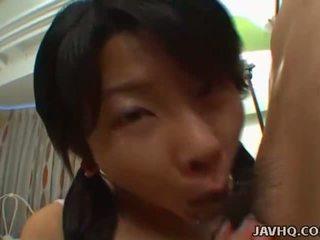 Haruka aida καβλί και ball παιχνίδι με γεμάτος τσιμπούκι