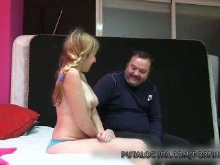 Puta locura naive latina tiener creampied door oud man