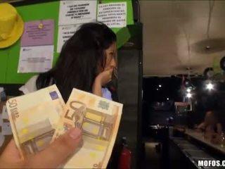Spanish beauty babe public fuck for cash