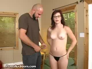 brunette, reality, firsttime