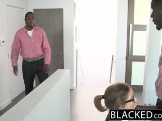 Blacked adolescente trío con two monstruo dicks