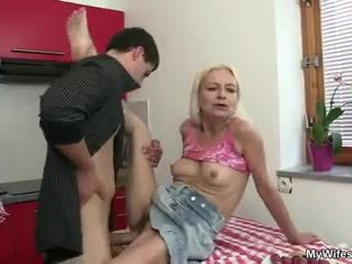 Guy fucks his mother in law right at t...