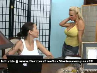 Super busty blonde babe goes at a massage parlor