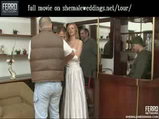 Cantik wadam pengantin perempuan berciuman dan feeding dia beefy meat untuk dia suami