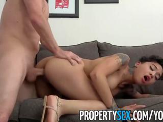 Propertysex - gyzykly gözel tenant late on rent fucks her landlord