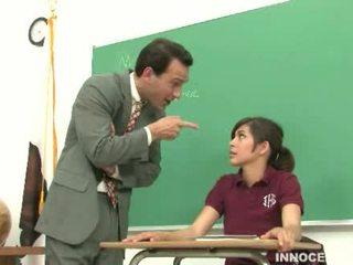 étudiant, adorable, fessée
