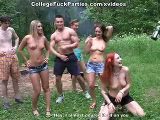Filthy vysoká škola sluts obrat an von párty do divé súložiť fest scéna 2