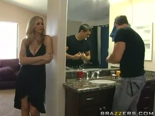 Super sexy busty blonde milf cheating her husband and fucking