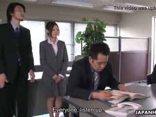 Yoshida getting drilled down about her presentation