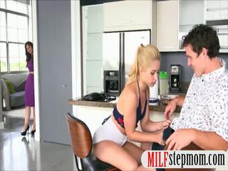 Teen Goldie Oritz threesome with busty stepmom Syren Demer