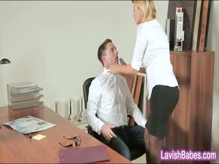Kontors baben anna polina banged verklig bra