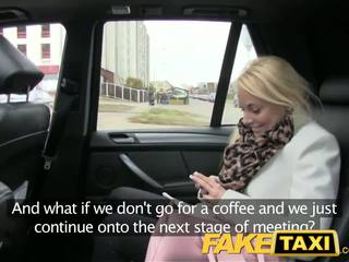 Faketaxi білявка клієнт seduced по taxi driver