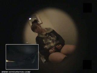 Japonais bureau demoiselles toilettes masturbate