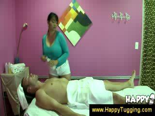Oriental massage masseuse Handjobs wanking jerking Handjob tugging Tug job cfnm big Boob bigtits bigboobs