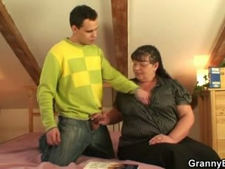 She pleases a guy with her big tits and fat cunt