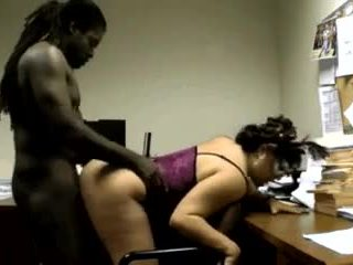Office interracial fuck Video