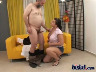 Jasmin made love to her fat and sloppy man