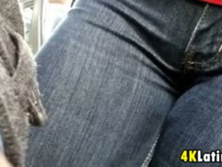 Latin Girls Crotch On The Bus Candid