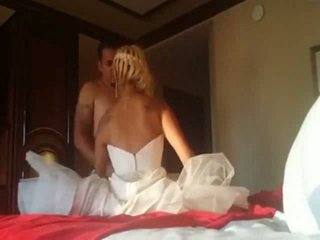 Fucking her in wedding dress