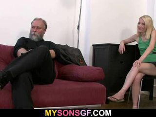 Dad punishes his GF and gets caught by...