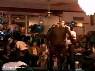 Baltimore Black Male Stripper Gets It On With The