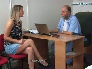 Samantha gyno examen de gynecologist