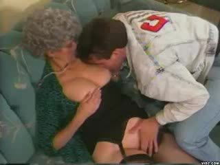 Oma teaches granddaughters babe boyfriend