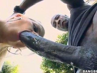 Pirang babeh takes a 12 inch jago up her bokong!