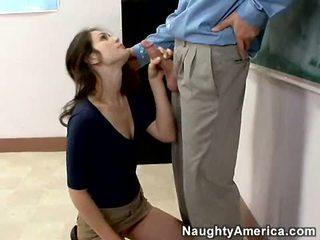 Vies boekenwurm faith leon stuffs haar mond met een thick shaft en enjoys het