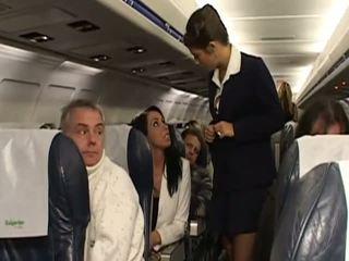 Greu sex cu foarte fierbinte stewardesses
