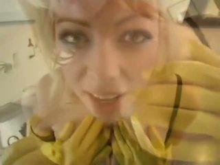 Adrianna nicole في yellow مطاط قفازات - الاباحية فيديو 841