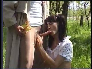 毛茸茸 褐发女郎 fuckin 硬 肛交, 自由 色情 c0