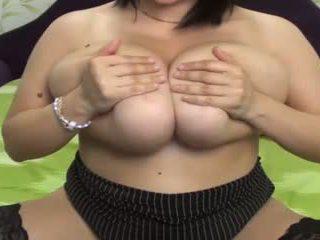 velká prsa, webkamery, masturbace