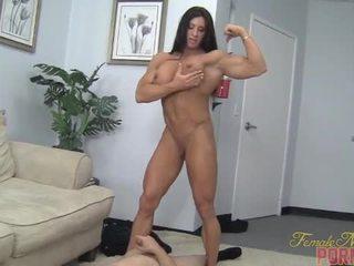 muskel, demütigung, weiblich